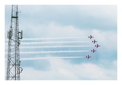 Red Arrows (Number Johnny 5) Tags: lines tamron d750 nikon aeroplane minimal aerobatics red air minimalism imanoot angles contemporary jet 2470mm arrows yarmouth display show johnpettigrew great