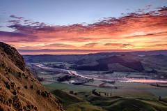 Red Dawn (lizcaldwell72) Tags: water tukitukivalley sky hawkesbay newzealand cloud sunrise light