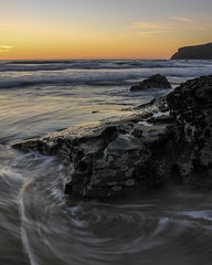 There's something about seascape  that just relaxes me. Sorry about the miss focus it was very windy. #seascape  #landscape #photography #calm #waves #Canon #lee-filters #peaceful #rocks #sunset #cornwall (joerusson) Tags: seascape landscape photography calm waves canon lee peaceful rocks sunset cornwall