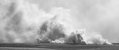 Fire on SPTA Centre (stevedewey2000) Tags: salisburyplain wiltshire sptaeast fire smoke haze burning grasses grassland blackandwhite bw monochrome desaturated 2351 widescreen tamron150600