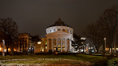 Romanian Athenaeum (Valantis Antoniades) Tags: romanian athenaeum romania bucharest concert hall architecture night garden flower