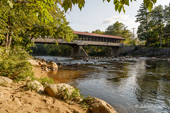 New Hampshire Bridge (1890) (John H Bowman) Tags: newengland newhampshire carrollcounty bridges coveredbridges newenglandcoveredbridges sacorivercoveredbridge paddlefordtruss riversstreams sacoriver warmsunlight september2017 september 2017 canon24704l
