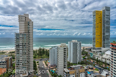 Hotel and apartments with the beach and Ocean in the background (per.svensson@mac.com) Tags: resort apartments street water city cityscape vacation residential modern sightseeing skyscraper ocean tower outdoors surfers downtown view daylight sand waterfront outdoor design holiday skyline hotel coast tourist broadbeach sky picturesque sea paradise famous summer urban warm coastline travel noperson building beach architecture queensland australia tourism pacific destination