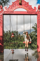 Bali Swings (SemiXposed) Tags: bali summer vacation asia indonesia holidays swing water palm trees outdoors hot