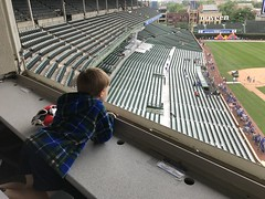 "Paul in the Wrigley Field Press Box • <a style=""font-size:0.8em;"" href=""http://www.flickr.com/photos/109120354@N07/42412555734/"" target=""_blank"">View on Flickr</a>"