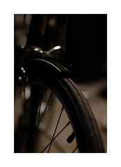 x (GrimFlats) Tags: bike tire dof dark green vintage nikon d200 50mm 18g sad