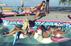 Jump To The Water (Bryan Trend) Tags: catwa catya maitreya truth hair promagic outfit top panties sandals vanity event kokoro poses bento ebento female woman blog summer post second life new blogger sl model swimpool my fresh trend style