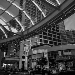 Canada Place - Film Praktisix (Photo Alan) Tags: pentacon praktisixii flektogon50mmf40 hc110 vancouver vancouverdowntown vancouverstreet canada blackwhite blackandwhite bw film filmcamera filmscan film120 filmstreet building filmvancouver city cityscape cityofvancouver