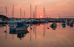 Brixham Sunset (simondayuk) Tags: brixham devon seascape landscape boats yachts sailing reflection reflections sunset sea seaside ocean water masts clouds redsky nikon d500 nikond500