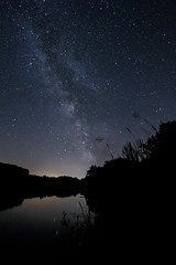 Midnight Highway (M-Z-Photo) Tags: heidenheim bayern deutschland de milchstrase langzeitbelichtung landschaft nachtaufnahme see natur nacht reflxionen