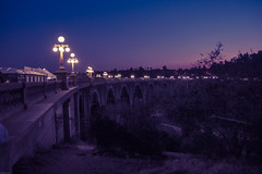 blue hour bridge (Karol Franks) Tags: coloradostreetbridge pasadena california socal blue hour bridge summer evening sky bridgeparty pasadenaheritage warm night losangeles canon karolfranks