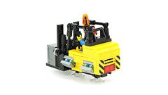 AirCity (de-marco) Tags: lego future cyberpunk town city floate flying aircity forklift