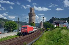 EC 8 @ Oberwesel (Wesley van Drongelen) Tags: db deutsche bahn sbb cff ffs schweizerische bundesbahnen chemins de fer fédéraux federaux suisses ferrovie federali svizzere swiss federal railways eurocity ec 8 ec8 baureihe br class série serie type reihe 101 br101 oberwesel linke rheinstrecke rhein rhine train trein zug