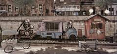 Old ice cream van (ᗷOOᑎᕮ ᗷᒪᗩᑎᑕO) Tags: secondlife serenitystyle van car bike voodoo blood