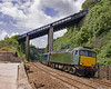 57604 departs Teignmouth with the 1026 St Erth-Exeter st Davids 'Veg-ex' (Hoovering_crompton) Tags: class 57 57604 gm teignmouth south devon st erthg exeter davids erth sea wall nikon d3300 sun body snatcher veg ex