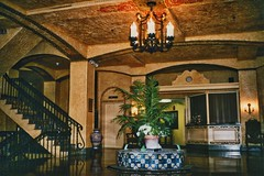Huntington Indiana - Former Hotel LaFontaine Lobby -  LaFontaine Center (Onasill ~ Bill Badzo) Tags: huntington county in indiana hoosier former old vintage photo hotel lafontaine lobby architecture style 1925 pavilion swimming pool ballroom colonial revival spanish courtyard egyptian la fontaine adaptive reuse senior center cenre downtown main street nrhp district landmark onasill water fountain