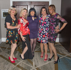 Five Fabulous Femmes! (kaceycd) Tags: crossdress tg tgirl lycra spandex stretch seethru seethrough lace minidress platino cleancut pantyhose pumps peeptoepumps opentoepumps highheels stilettopumps platformpumps stilettoheels sexypumps stilettos s peplum top sheer leggings tights sandals peeptoesandals opentoesandals sexysandals wedges opentoewedges wedgesandals
