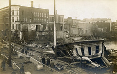 Janesville - Milwaukee Street Fire of 1913 - Janesville, Wisconsin (The Cardboard America Archives) Tags: wisconsin cityinruins vintage postcard disaster