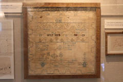 Canvas and Wool Needlework Sampler, 1802 (Itinerant Wanderer) Tags: pennsylvania chestercounty longwoodgardens