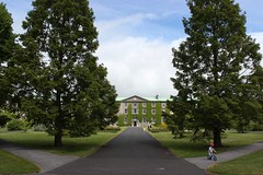 Square (mcginley2012) Tags: maynooth cokildare path trees square building architecture boy bicycle
