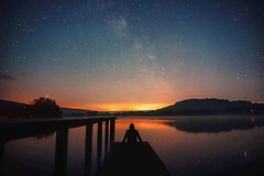 Astrolight (bryony.harper) Tags: lake reflection stars astro milkyway brecon love
