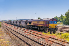 66 060 DB Cargo UK Exeter St David's 22.06.18 Exeter Riverside - St.Blazey (Paul David Smith (Widnes Road)) Tags: chinaclay immerys stblazey riverside 66060 db cargo uk exeter st davids 220618 class 66 class66 ews