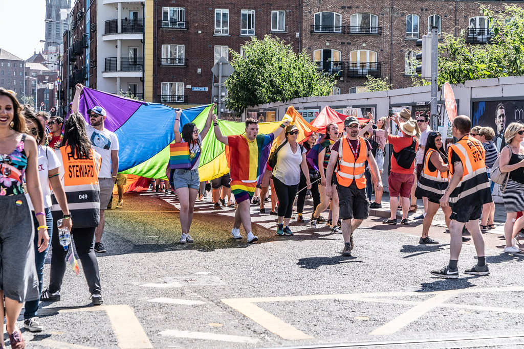 ABOUT SIXTY THOUSAND TOOK PART IN THE DUBLIN LGBTI+ PARADE TODAY[ SATURDAY 30 JUNE 2018] X-100038