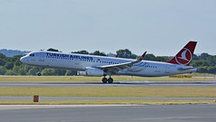 TC-JSY (panmanstan) Tags: airbus a321 passenger jet airliner aircraft airplane manchester airport