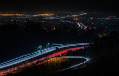 highway 24 ramp to the 13 (pbo31) Tags: bayarea eastbay 4thofjuly holiday night black color summer nikon d810 boury pbo31 california 2018 independenceday over view alamedacounty sanfrancisco city baybridge 80 easternspan highway 13 24 hillerhighlands oakland lightstream traffic roadway motion