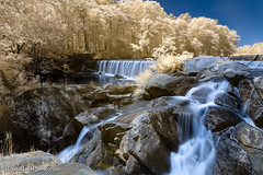 5-watermark (Brian M Hale) Tags: ir infrared infra red 590nm 590 water fall falls waterfall rocky rocks long exposure breakthrough filters outside outdoors nature newengland new england usa ma mass massachusetts blackstone gorge brian hale brianhalephoto