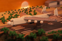 Antonov An 225 Sunset landing (koskinen.jussi) Tags: lego moc airplane antonov antonovan225