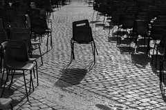 Loners (LeeDylanLeeDyl) Tags: chairs black white bw 50mm d3300 18 vatican rome italy