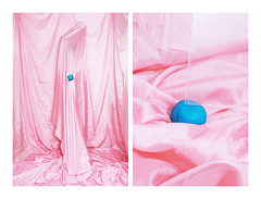 Inner Self-portrait 2 (MitikaFe) Tags: innerselfportrait silk round pink visualart emotion inside inner selfportrait sky blue