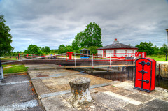 Rooskey Lock (rtstewart000) Tags: river shannon lock canal erne waterway roosky ireland cruising boats scenic walkway fishing history gates colourful barges
