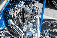 Custom Harley (G. Postlethwaite esq.) Tags: bakewell dof derbyshire harleydavidson sscycles bellmouth bokeh carburettor chopper chrome closeup custom depthoffield engine exhaustpipe footpeg fullframe motorbike motorcycle photoborder photowalk selectivefocus
