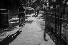 Evening Shadows (2 of 3) (+Pattycake+) Tags: shadows lumixdmcgm1 blackandwhite street people monochrome norwich moon bw evening uk scenes