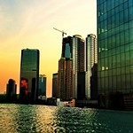 ..infinity pool and the city scape in golden dusk.. thumbnail