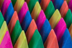 Erasing the Rainbow (jeff's pixels) Tags: macro mondays eraser erasers colors rainbow pencil depthoffield lines pattern color abstract nikon d850 105mm he