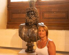 Debbie (S Hancock) Tags: beautiful woman debbie france paris the louve bust