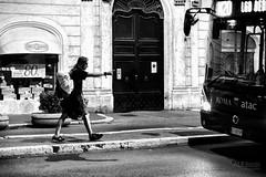 stop please (ale_brando) Tags: busstop bus people nightlife nightphotography sidewalk pavement blackwhite mono monochrome nikonfx fx d700 50mm silverefexpro niksoftware romebynight