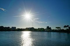 2018-07-19 17.31.55 (pang yu liu) Tags: 2018 07 jul pond park bade 七月 八德 埤塘 公園 日落 sunset 星芒 flare sun 太陽