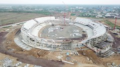 Douala Japoma Stadium (Blackwhite1903) Tags: douala cameroon stadium construction building engineering sport aerial drone airview airphoto aircam