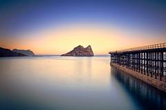 La isla - Águilas (Murcia) (Javier Álamo Andrés) Tags: sunrise murcia spain europe landscape water sea mediterranean docks pier