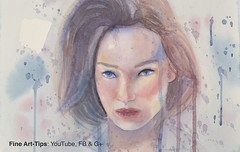 How to Paint a Woman's Face in Watercolor (fineart-tips) Tags: art painting finearttips woman portrait watercolor tutorial artistleonardo leonardopereznieto tutto3 patreon