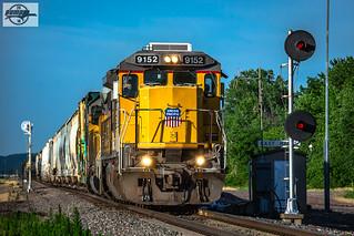 Eastbound UP Manifest Train at Halls, MO