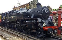 Loco 80136 Standard 4 Tank at Goathland Station (wontolla1 (Septuagenarian)) Tags: loco steam nymr north yorkshire moors railway standard 4 tank 80136 goathland station
