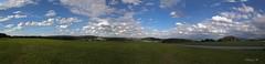Oberbayerisches Panorama (Renata1109) Tags: gras feld himmel wolken aussicht bayern deutschland landschaft ortschaft landwirtschaft outdoor clouds sky bavaria berg mountain germany landscape acker panorama