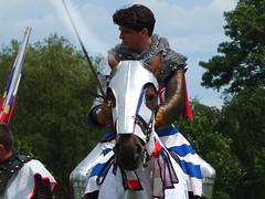 DSCF3635 (SierPinskiA) Tags: ruffordabbeycountrypark rufford knightsofnottingham fujixs1 jousting medieval horse knights goldeneagle falcon
