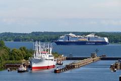 P1630005 (Lumixfan68) Tags: schiffe museumsfrachter cap san diego kiel schleusen nordostseekanal color fantasy kreuzfahrtfähre line ships
