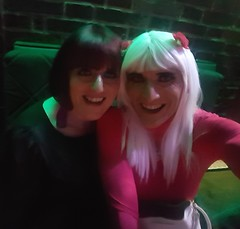 Super yummy Eve and myself (beccasmith3) Tags: bimbo pink heels sexy tgirl slut lff party dress crossdresser cute smooth legs tranny